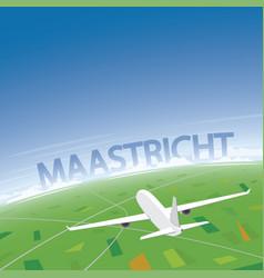 maastricht flight destination vector image
