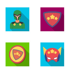 Man mask cloak and other web icon in flat style vector