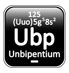 Periodic table element unbipentium icon vector