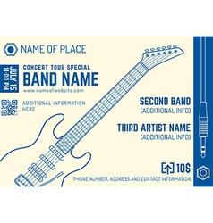 Rock music concert electro guitar horizontal music vector