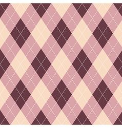Seamless argyle pattern diamond shapes background vector