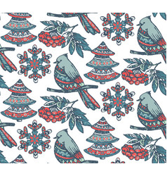 Seamless pattern with presents stars and vector