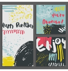 Set of abstract Greeting cards vector image