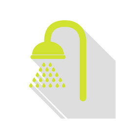 Shower sign pear icon with flat style shadow path vector