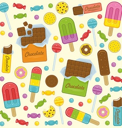 Sweet seamless background vector image