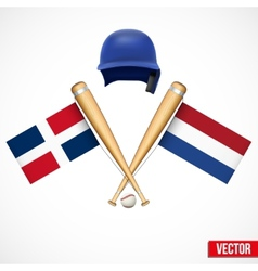 Symbols of baseball team dominican republic and vector