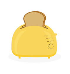 toaster and bread vector image