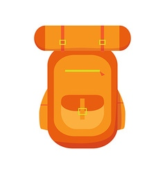 Hiking backpacks icon vector