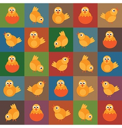Easter chick pattern vector
