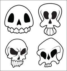 Skulls 7 vector image