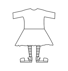 Silhouette with female clothing pijama vector