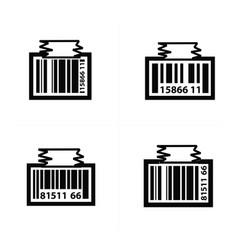 Barcode design tag icon vector