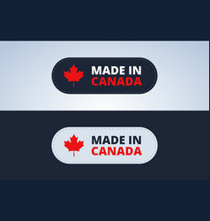 Made in canada badge vector