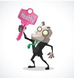 businessman key healthy vector image