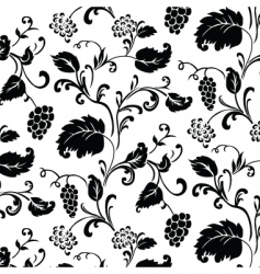 Grape vine pattern vector