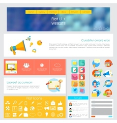 User Interface Design vector image