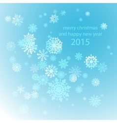 Snowflakes winter blue background snow decoration vector