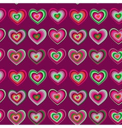 Striped heart on purple background valentines day vector