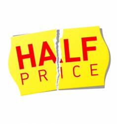 Half price sticker vector
