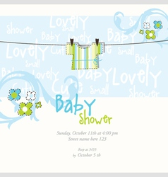 baby boy arrival card vector image