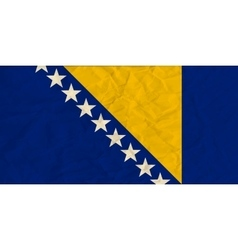 Bosnia and herzegovina paper flag vector