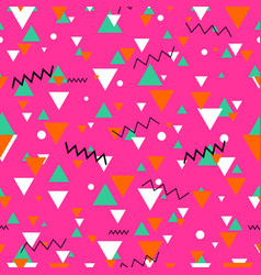 80s or 90s tile pink pattern vector image vector image