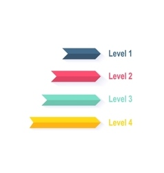 Level chart with colored arrows vector