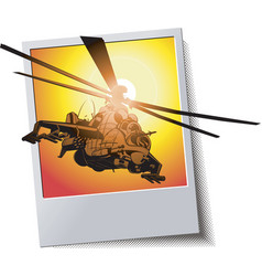 Frame with helicopter vector