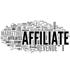 Affiliate revenue who to invite to the party text vector