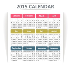 Calendar 2015 vector image