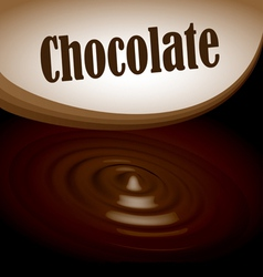 Chocolate splash text frame vector image vector image