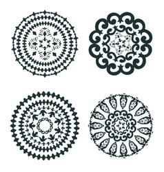 Elegant set of round ornaments vector image