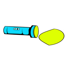 Flashlight icon cartoon vector