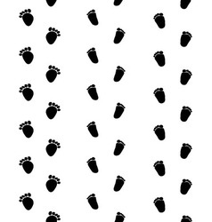 Footsteps of baby vector image vector image
