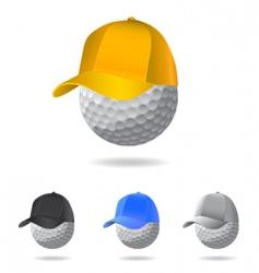 golf mascot vector image