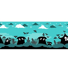 Halloween horror scene vector