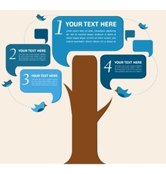 infographic design speech bubble tree with birds vector image vector image
