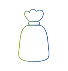 Line garbage bag object with biodegradable trash vector
