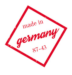 Made in germany rubber stamp vector
