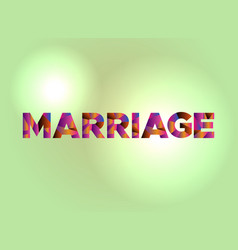 Marriage concept colorful word art vector