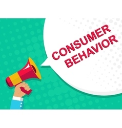 Megaphone with consumer behavior announcement vector