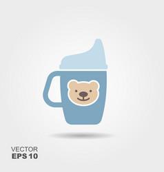 mug drinker for a child vector image