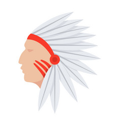 Native american indians vector