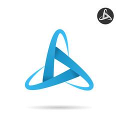 Orbits form letter delta vector
