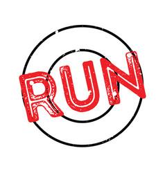 Run rubber stamp vector