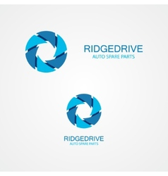 Set of colorful serrations logo vector image vector image