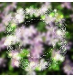 Sketch ornaments frame on blurred background vector image vector image