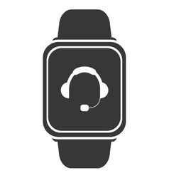 Smart watch with headgear on screen icon vector