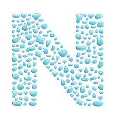 Water letter n vector