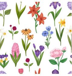 watercolor flower bouquet botanical bloom vector image vector image